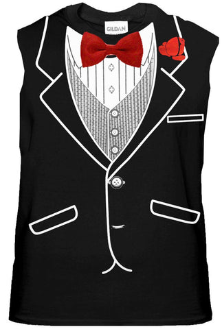 Formal Sleeveless Tuxedo Shirt