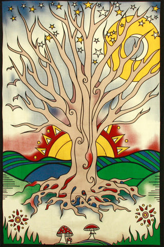 Twilight Tree of Life Tapestry 60 x 90""
