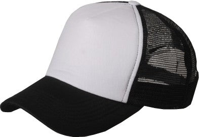 Two Tone Trucker Hats - Black Blank Trucker Cap