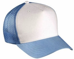 Two Tone Trucker Hats - Light Blue Blank Trucker Cap