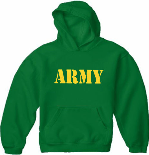 U.S Army Military Adult Hoodie  (Yellow)