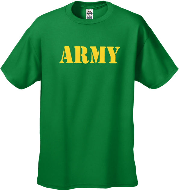 U.S Army Military Men's T-Shirt (Yellow)