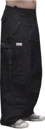 UFO Cotton Parachute Pants (Black)