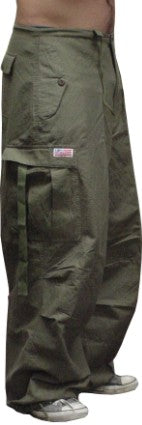 UFO Cotton Parachute Pants (Olive)