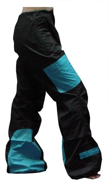 UFO Girls Hipster Two Tone Dance Pants(Black/ Turquoise)