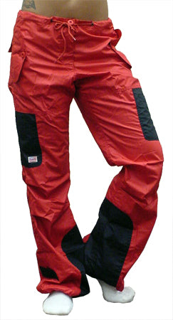 UFO Girls Hipster Two Tone Dance Pants (Red / Black)