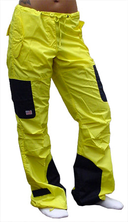 UFO Girls Hipster Two Tone Dance Pants (Yellow/ Black)