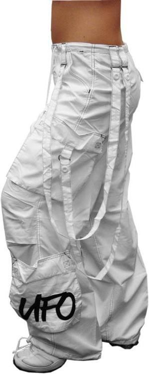 "UFO Girly Extreme ""Floppy"" Dance Pants (White)"