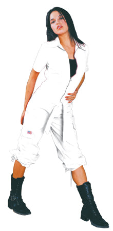 UFO Girly Hipster Flight Suit (White)