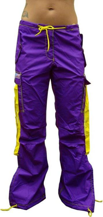 UFO Girly Hipster Pants With Expandable Bottom (Purple / Yellow)