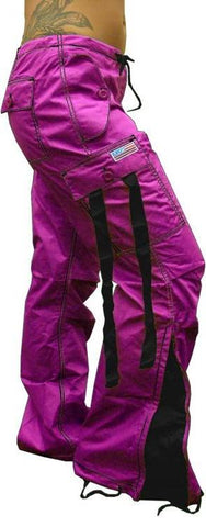 UFO Girly Hispter Pants With Expandable Bottoms (Hot Pink & Black)