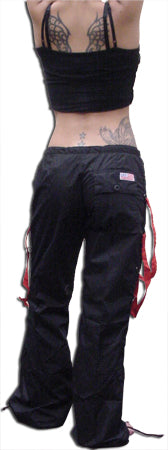 UFO Strappy Hipster Girls Pants (Black/Red)