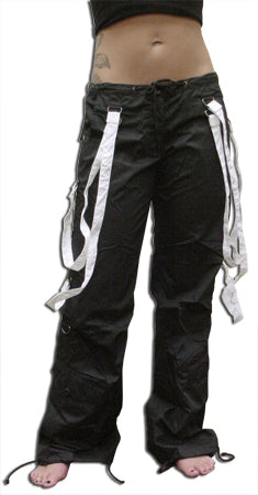 UFO Strappy Hipster Girls Pants (Black/White)