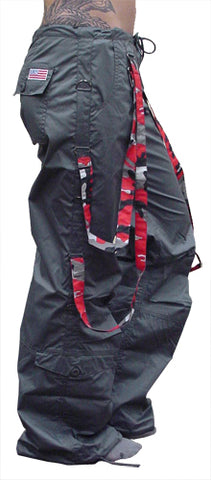 UFO Strappy Hipster Girls Pants (Charcoal/Red Camo)