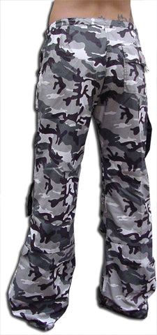 UFO Strappy Hipster Girls Pants (Grey Camo/Black)