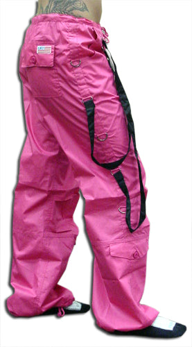 UFO Strappy Hipster Girls Pants (Hot Pink/Black)