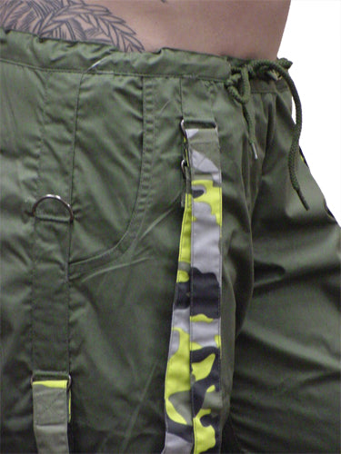 UFO Strappy Hipster Girls Pants (Olive/Yellow Camo)