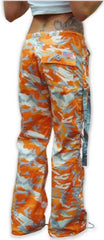 UFO Strappy Hipster Girls Pants (Orange Camo/Silver Grey)