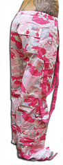 UFO Strappy Hipster Girls Pants (Pink Camo/Pink)
