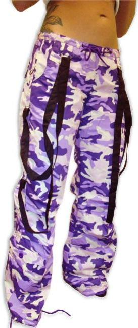 UFO Strappy Hipster Girls Pants (Purple Camo/Black)