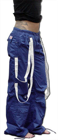 UFO Strappy Hipster Girls Pants (Royal/White)