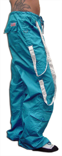 UFO Strappy Hipster Girls Pants (Turquoise/White)