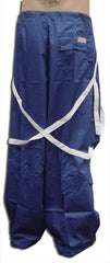 UFO Unisex Basic Strappy Pants (Royal Blue/White)