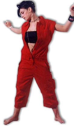 UFO Unisex Short Coverall Suit (Red)