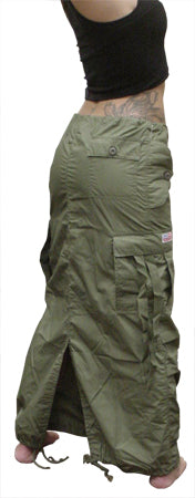 UFO Utility Cargo Skirt (Olive Green)