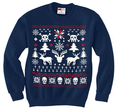 Ugly Christmas Sweater - 8 Bit Reindeer Crewneck Sweatshirt
