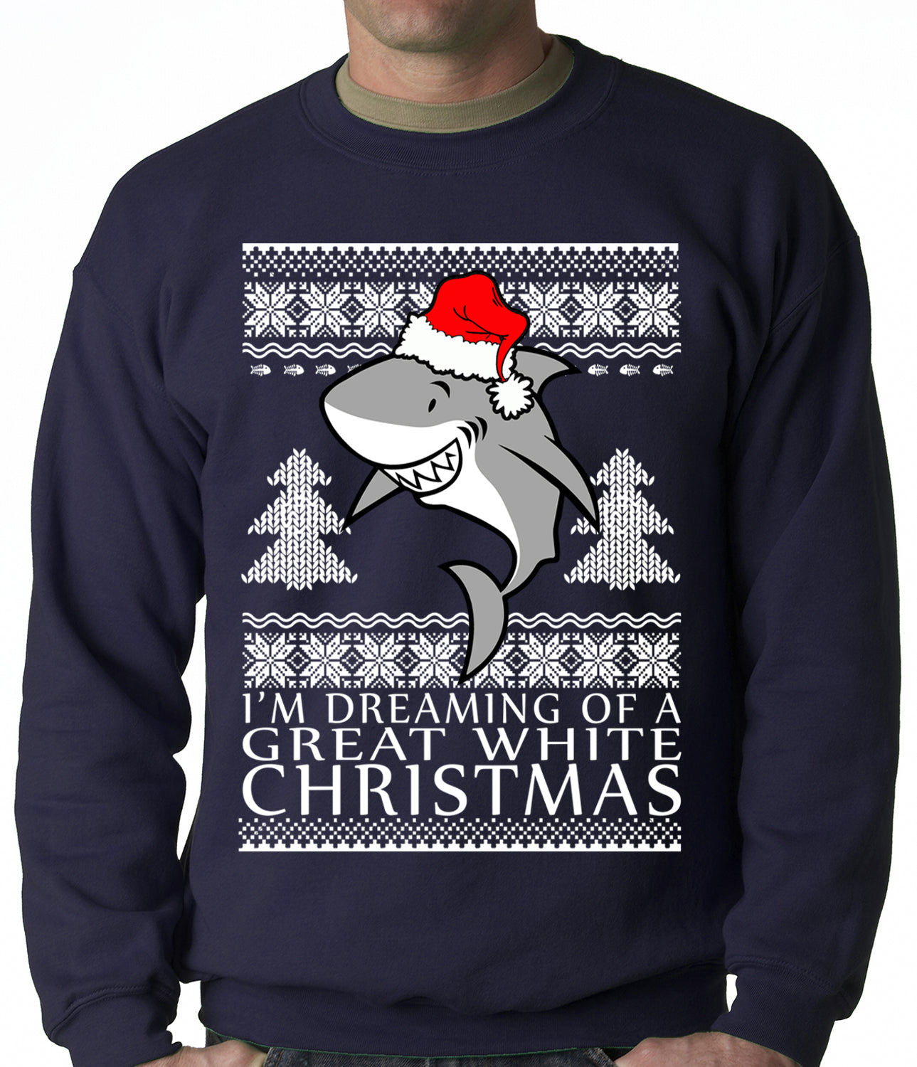 Great White Christmas Crewneck Sweatshirt