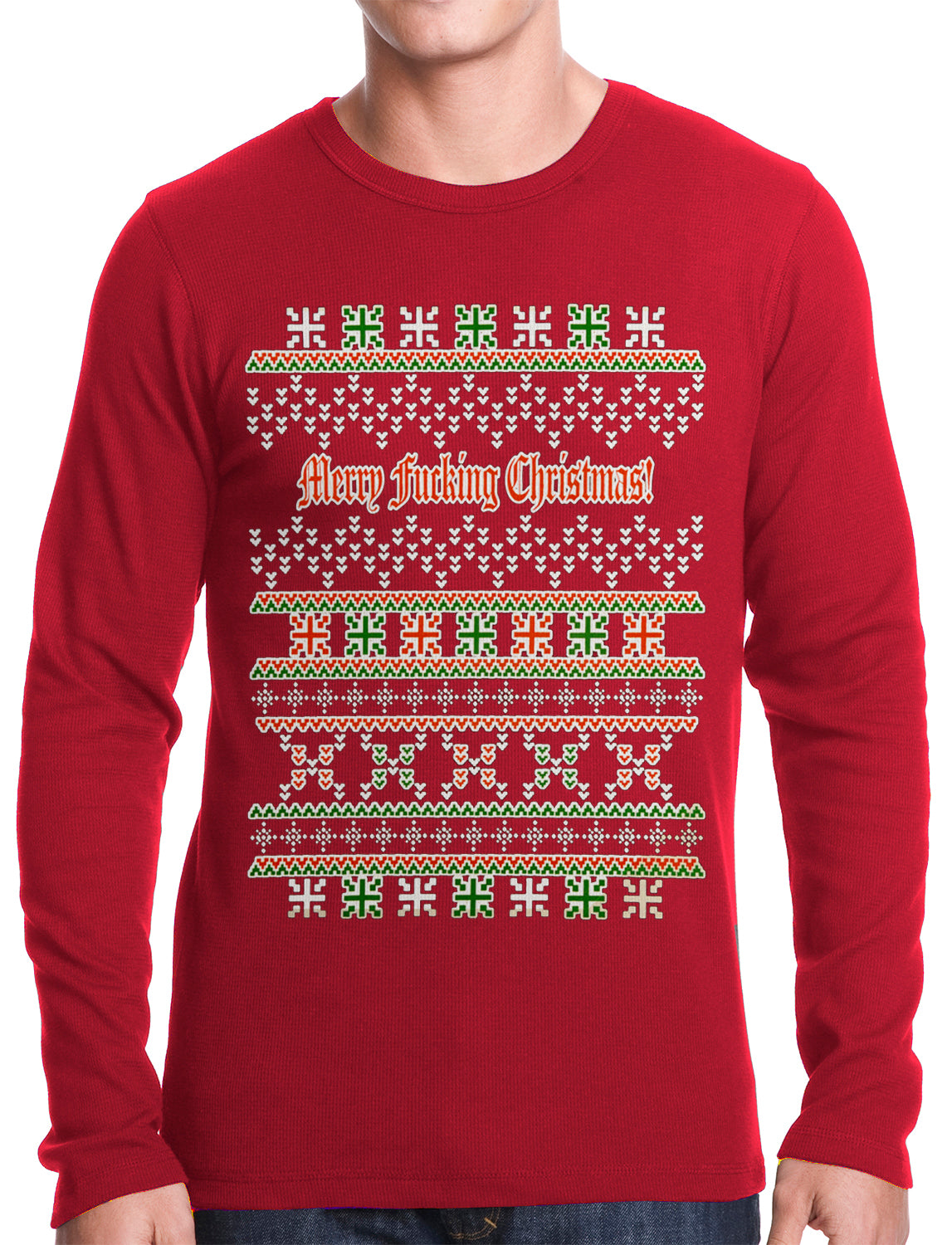 7c4f8fea283 Ugly Christmas Thermal - Merry F cking Christmas Thermal Shirt – Bewild