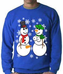 Mr. and Mrs. Perverted Snowman Ugly Christmas Sweater Crewneck Sweatshirt
