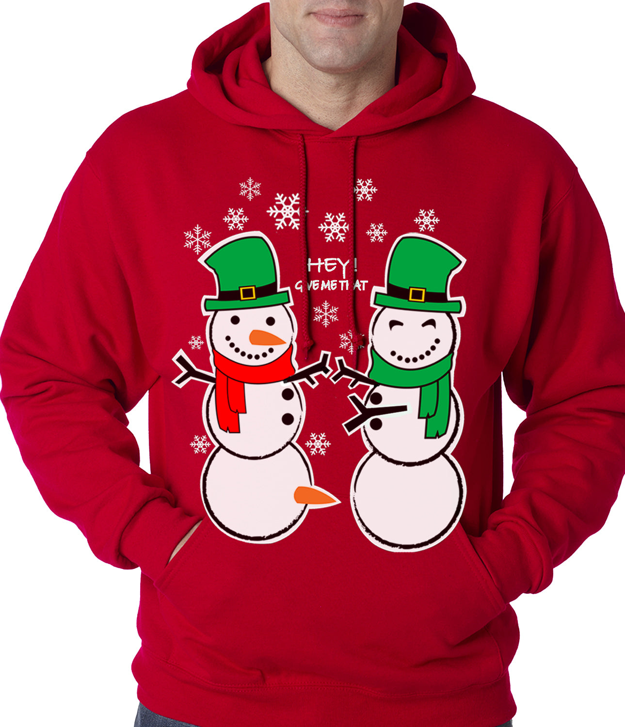 Ugly Christmas Sweater Perverted Snowman Adult Hoodie – Bewild