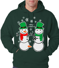 Ugly Christmas Sweater Perverted Snowman Adult Hoodie
