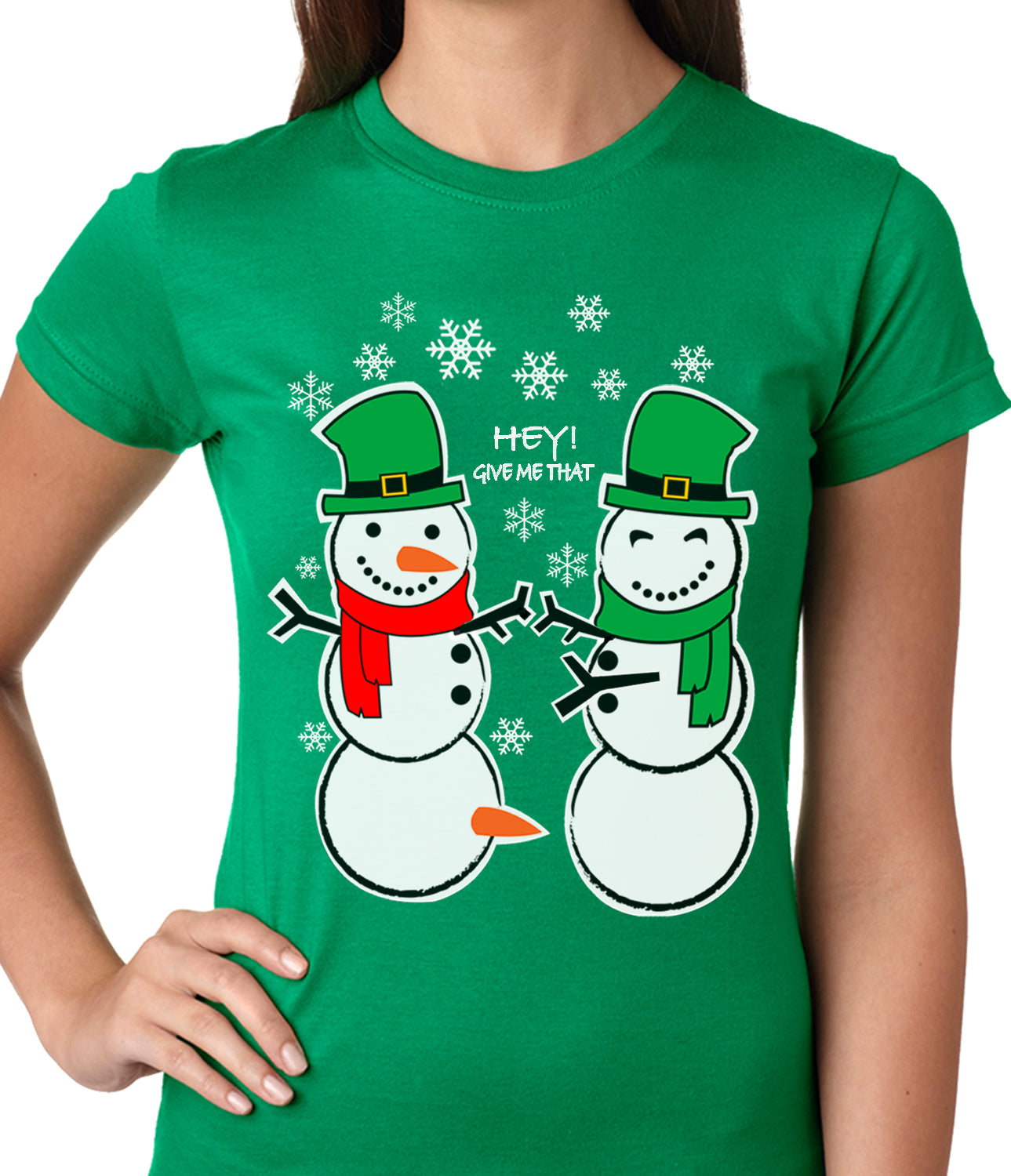 Ugly Christmas  T-shirt  Perverted Snowman Girls T-shirt