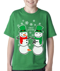 Ugly Christmas  T-shirt  Perverted Snowman Kids T-shirt