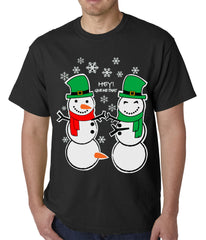 Ugly Christmas  T-shirt  Perverted Snowman Mens T-shirt