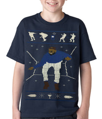 Ugly Christmas Tee - Dancing Man Kids T-shirt