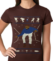Ugly Christmas Tee - Dancing Man Ladies T-shirt