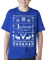 Ugly Christmas T-shirt - Jesus is the Reason Kids T-shirt