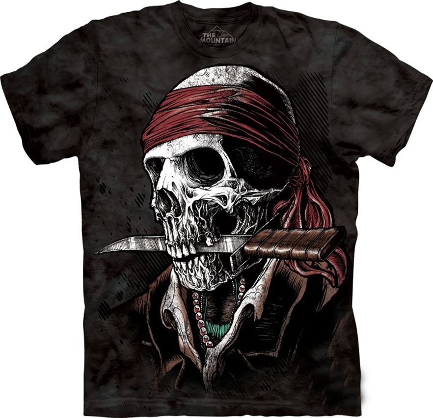 Undead Pirate Big Face Men's T-Shirt