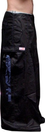 "Unisex 40 "" Wide Leg UFO Pants  (Black/Blue)"