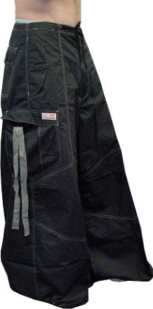 "Unisex 40 "" Wide Leg UFO Pants  (Black/Grey)"