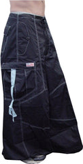 "Unisex 40 "" Wide Leg UFO Pants  (Navy/Lt. Blue)"