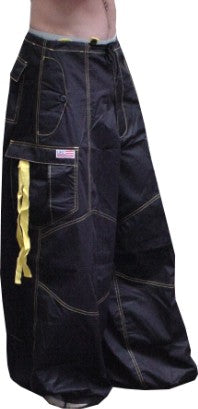 "Unisex 40 "" Wide Leg UFO Pants  (Navy/Yellow)"
