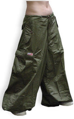 "Unisex 40 "" Wide Leg UFO Pants (Olive Green)"