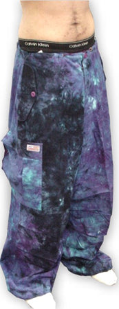 Unisex Basic UFO Pants (Blue/Purple Tie Dye)