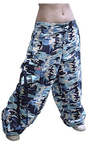 Unisex Basic UFO Pants (Dark Blue Camo)