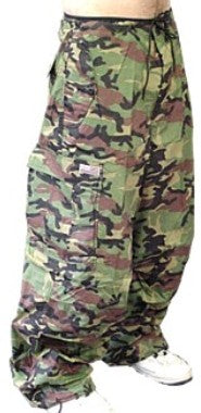 Unisex Basic UFO Pants (Green Camoflauge)